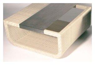 Table en résine tressée blanc plateau en aluminium Summertime