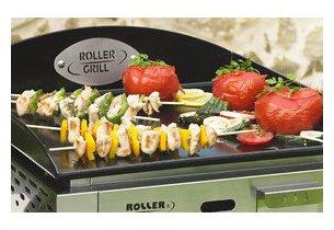 Plancha PL400E Roller Grill en situation de grillade légumes et viande