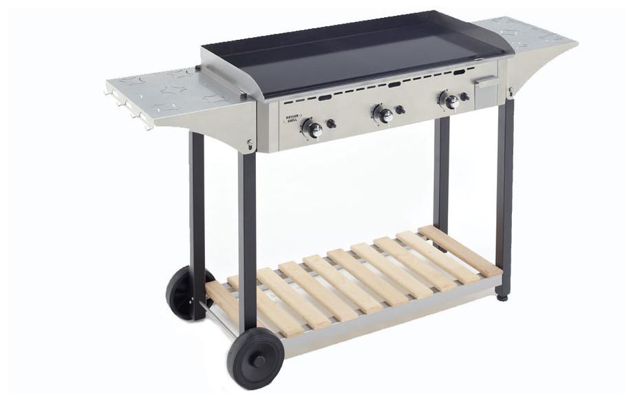 desserte pour plancha Roller Grill PSR 900 GE à gaz en situation