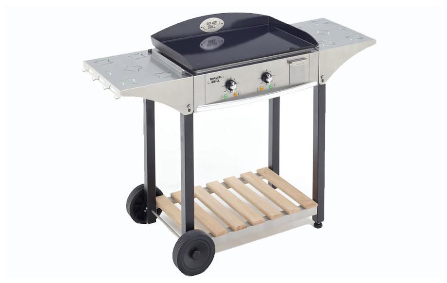 desserte CHPS bois/inox pour plancha électrique et à gaz en situation