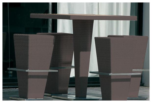 Table et chaise de jardin resine tressee valdiz - Table chaise resine tressee ...