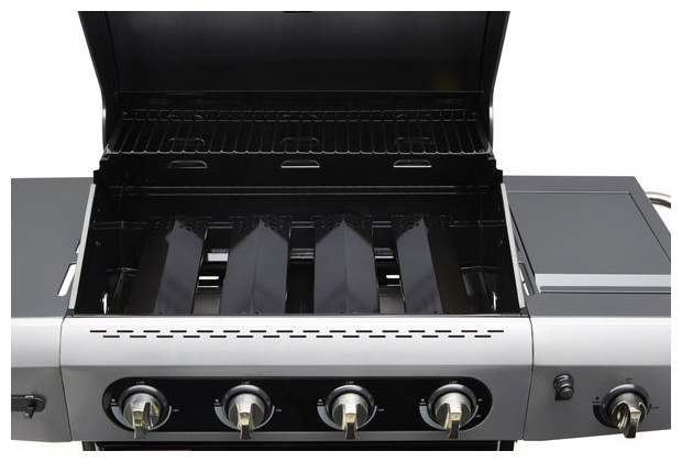 barbecue gaz 3 grilles en fonte r chaud gaz lat ral grille d 39 attente jardin. Black Bedroom Furniture Sets. Home Design Ideas