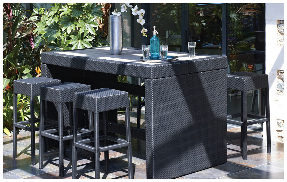 Best table haute de jardin en resine tressee photos for Achat maison haute corse