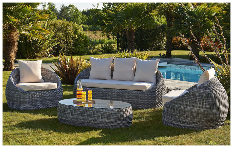stunning salon de jardin en resine tressee isa images. Black Bedroom Furniture Sets. Home Design Ideas