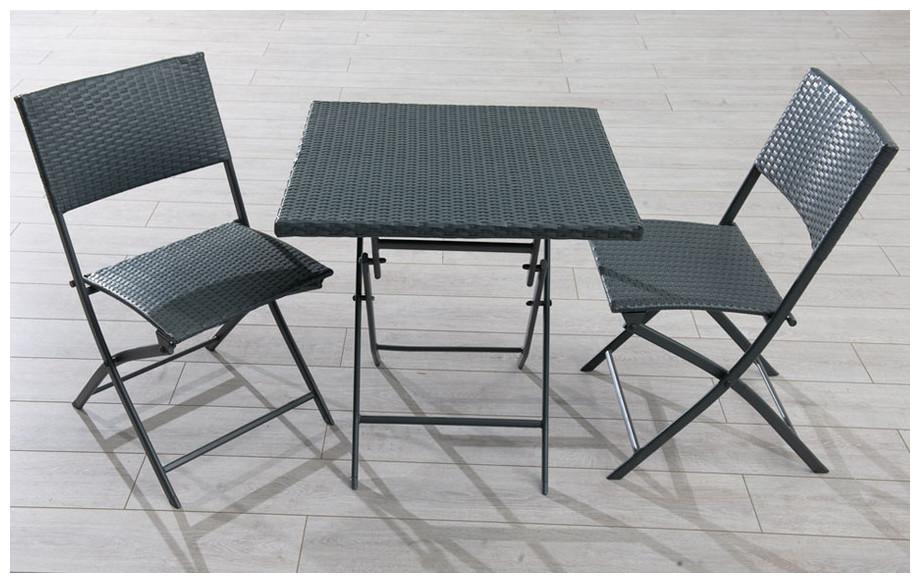 Salon de jardin pas cher 3 pi ces jardin for Ensemble table et chaises resine tressee pas cher