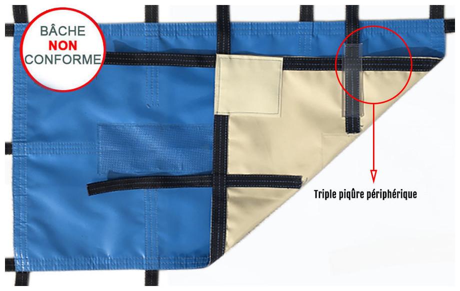 bâche opaque frimas - norme de sécurité