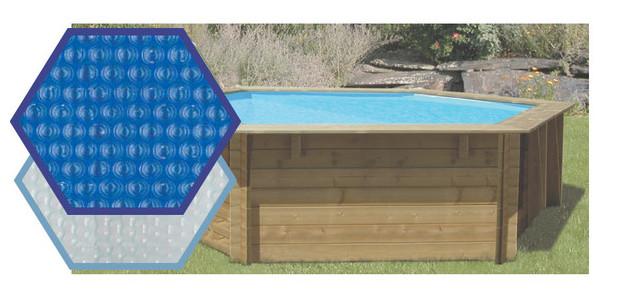 bache piscine bois a bulle - 400 et 500 microns