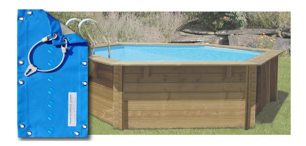 couverture d'hivernage spécial piscine bois hexagonale