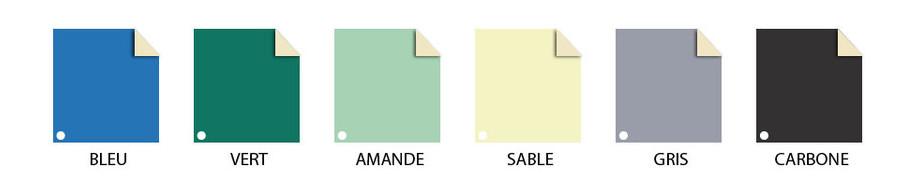 Bâche 4 saisons Ø412 - - Couleurs : bleu, vert, amande, sable, gris, carbone. (côté inférieur sable pour éviter les décolorations)