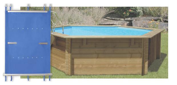 Bache a barre pisicne bois, protege et securise efficacement votre piscine