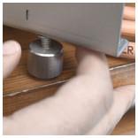 pieds réglables du grill électrique EcoGrill 3.6 Kw en situation