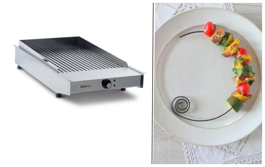 grill électrique Eco Grill semi professionnel 3.6 Kw en situation