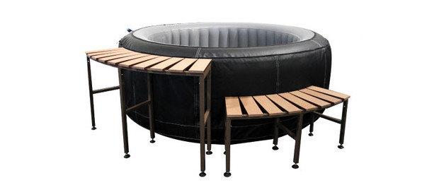 Marche et console haute spa waterclip piscine center net - Meuble spa gonflable ...