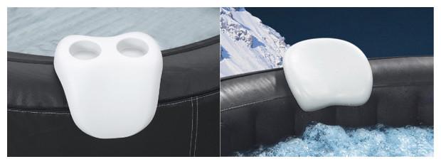 set confort Waterclip - 2 appuie-têtes + 1 porte-verres pour spa gonflable