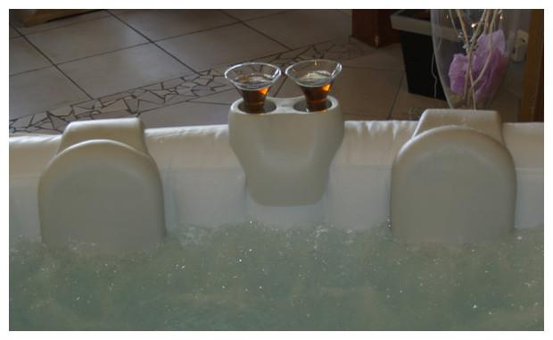spa gonflable à domicile waterclip avec accessoires confort