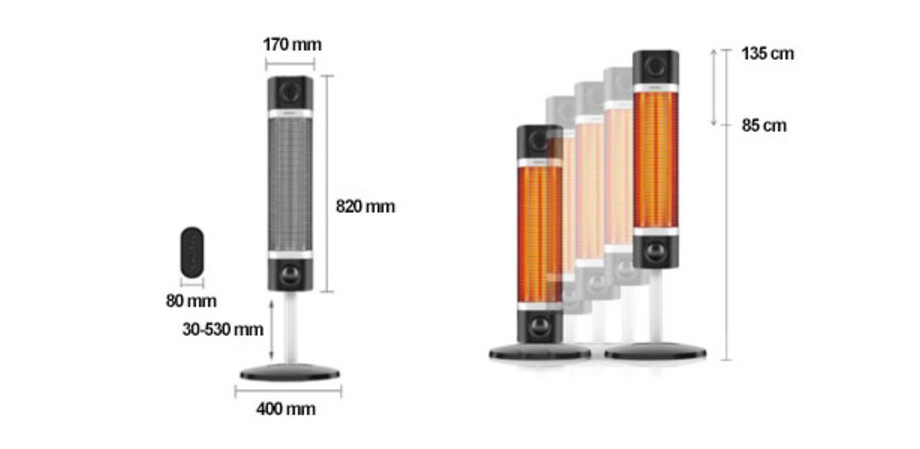 radiateur sigma infrarouge dimension chauffage blanc