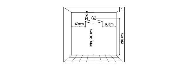 Plan de montage de l'applique chauffante Hotdoor