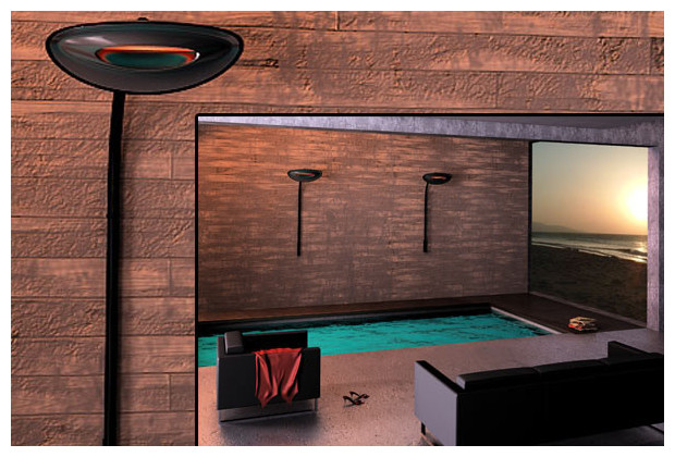 Applique chauffante murale en piscine d'intérieure