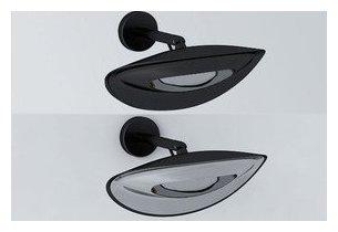 Applique chauffante infrarouge Hotdoor noir, noir et chrome