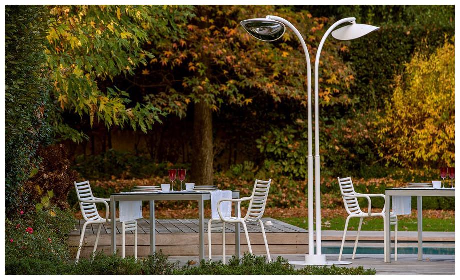 lampe chauffante infrarouge hotdoor - ambiance extérieure
