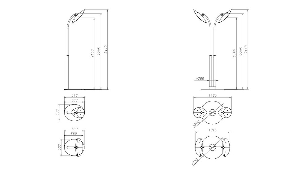 lampe chauffante infrarouge hotdoor - dimensions