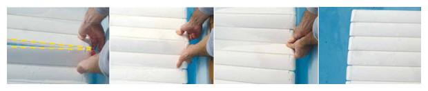 assemblage lames tablier de volet piscine ocover