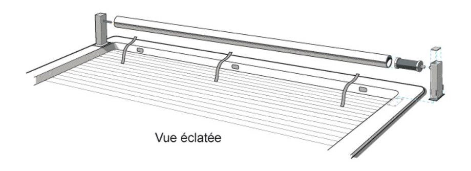 volet roulant ocover - vue eclatee