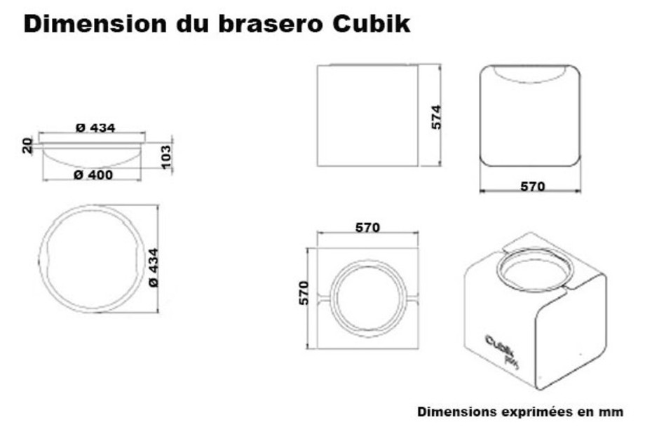 Brasero Cubik dimension