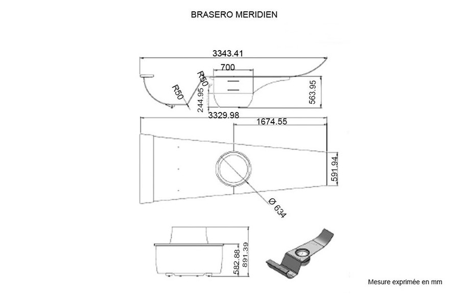 DIMENSION BRASERO MERIDIEN