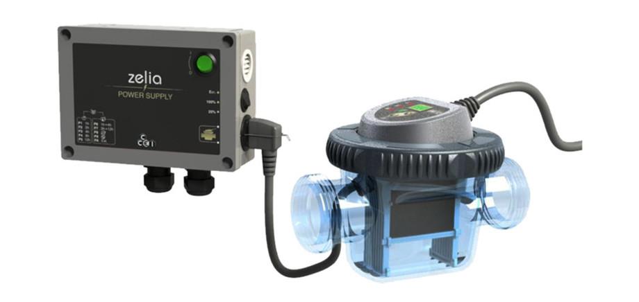 D sinfection de l 39 eau electrolyseur zelia pour piscines for Electrolyseur piscine