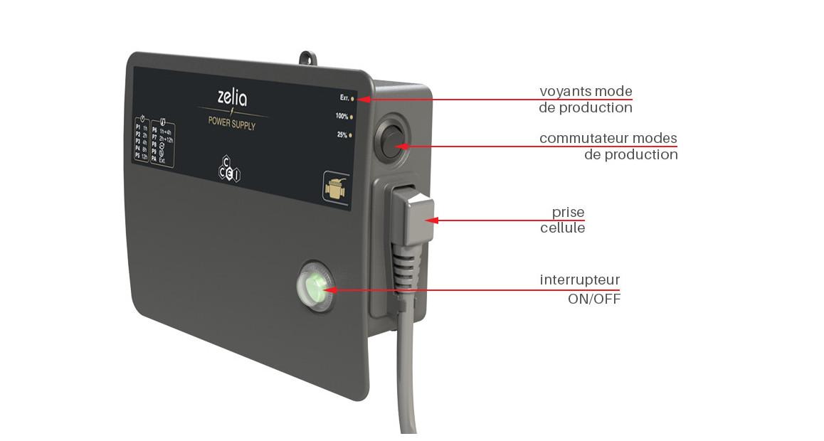 descriptif du coffret électrique de l'électrolyseur zelia