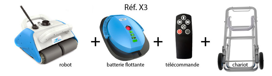 robot electrique poolbird sans fil - option batterie flottante