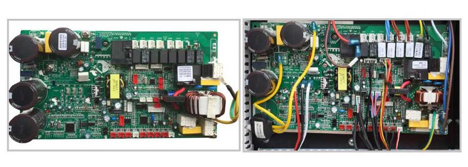 microprocesseur de la pompe à chaleur piscine Pacfirst Top Nova Inverter en situation