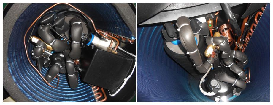 Pompe à chaleur verticale Pacfirst Steel Top - vue circuit intérieur