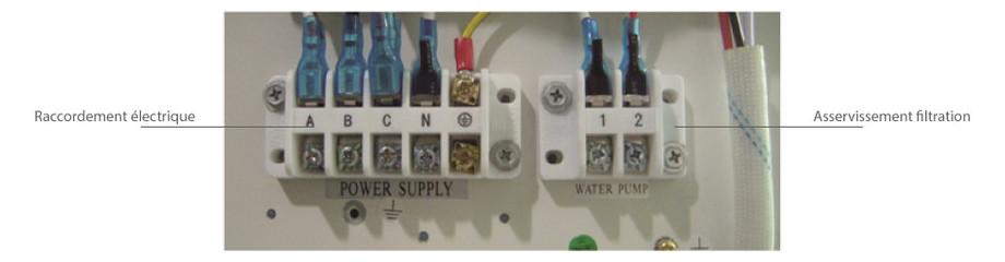 Pompe à chaleur Pacfirst Steel Pro - bornier electrique