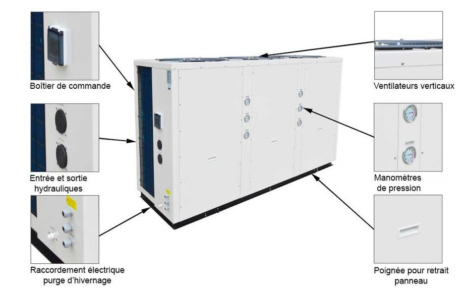 descriptif de la pompe à chaleur Pacfirst Steel Pro
