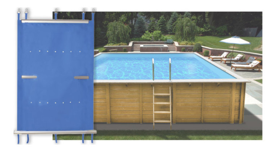 B che piscine a barres pour piscine rectangle bois 800x400 for Piscine center