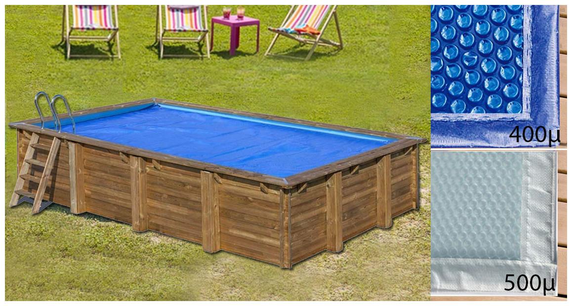 bâche été rectangle pour piscine bois woodfirst original
