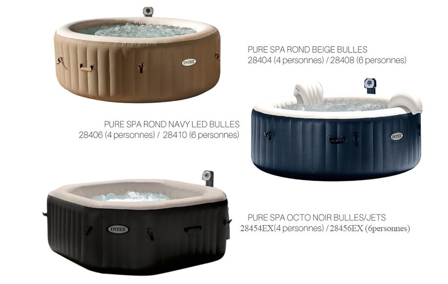 pure spa gonflables intex