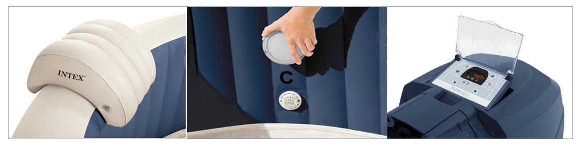 accessoires du pure spa intex navy bulles led