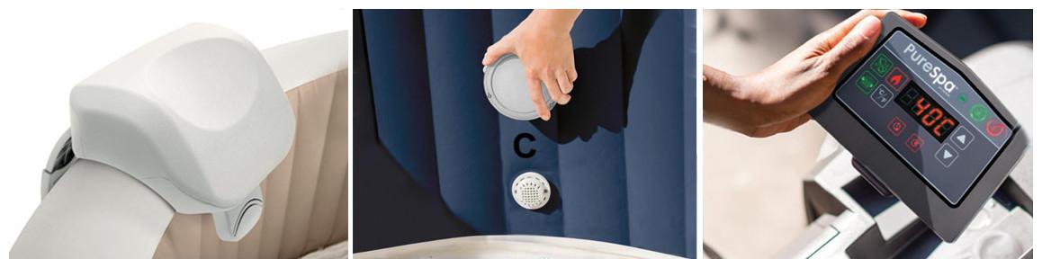 accessoires du pure spa intex baltik bulles led