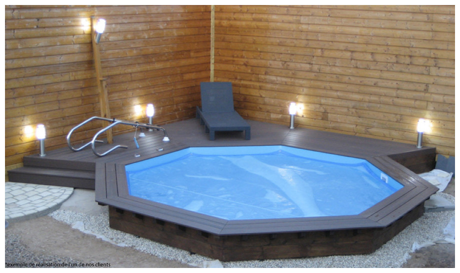 Piscine en bois pas cher woodfirst original 511 piscine for Piscine center