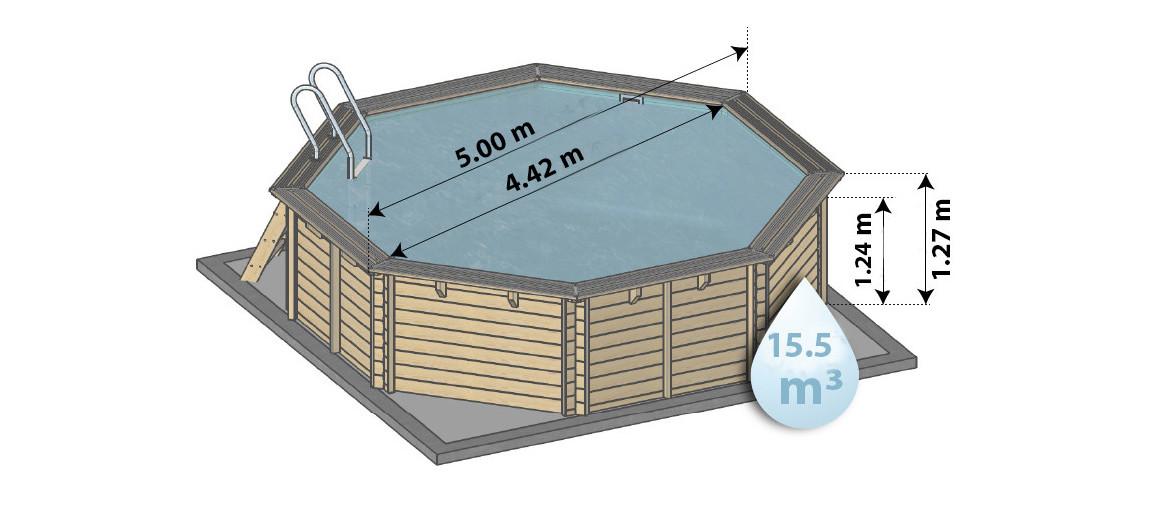 dimensions de la piscine bois woodfirst original 500x127