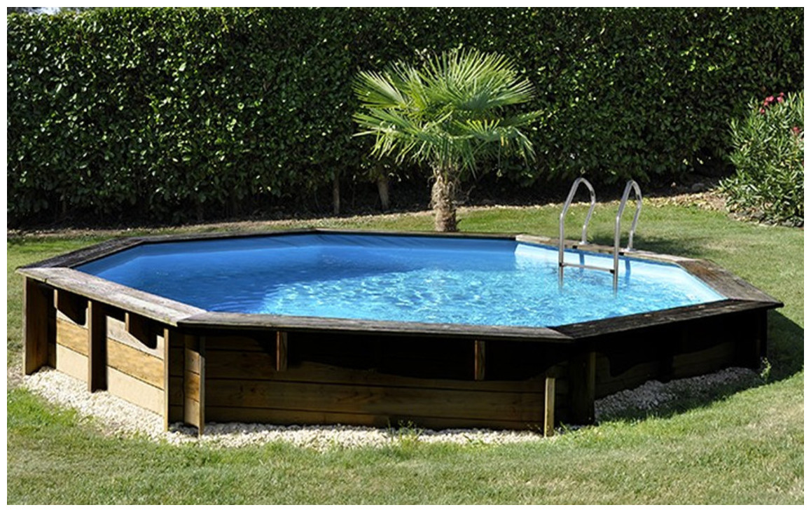 piscine bois woodfirst original semi enterrée 511 par 124