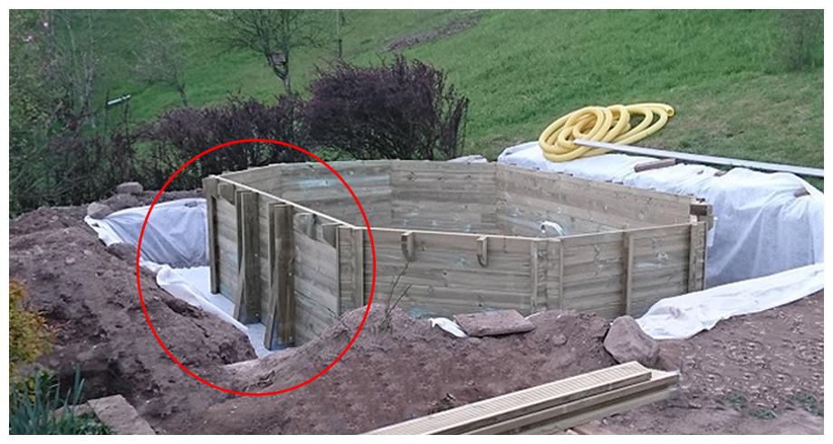 piscine bois octogonale allongée Woodfirst Original structure à visser