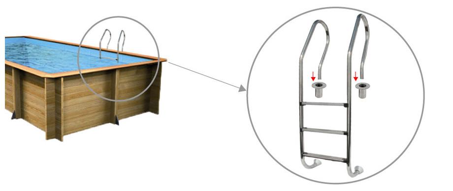 Woodfirst Original Rectangulaire - L'échelle d'accès