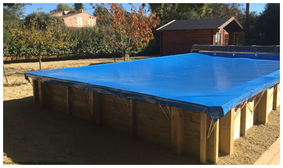 Woodfirst Original Rectangulaire 300 x 300 x 133 cm - Piscine bois en kit tout inclus