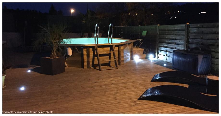 Woodfirst Original Octogonale 430 x 124 - Le kit piscine bois le mieux équipé sur le marché !