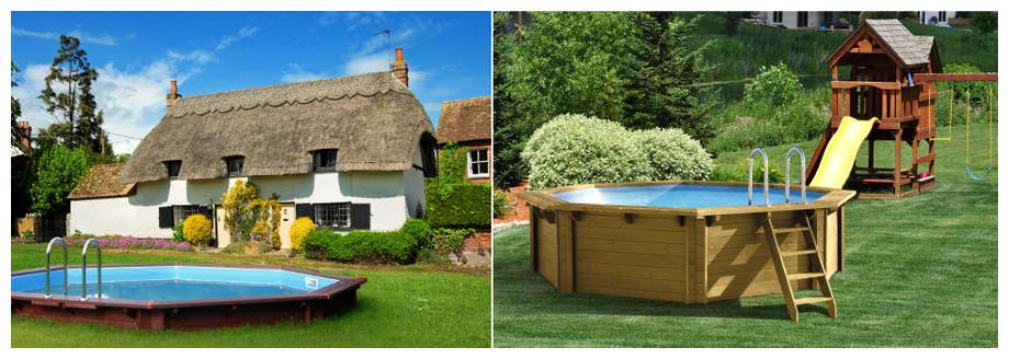 piscine woodfirst original kit bois octo 562 - images ambiance