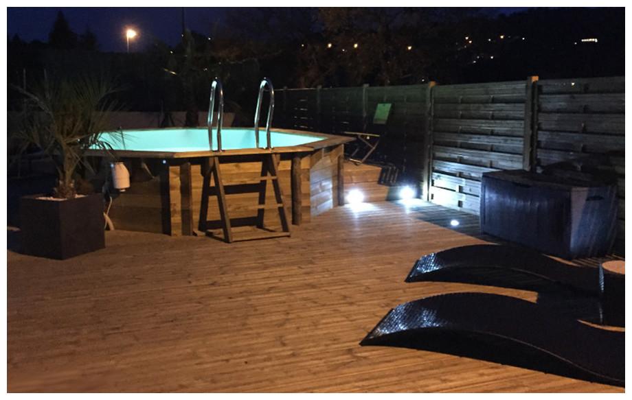 piscine bois octogonale  Woodfirst Originale 562x133cm
